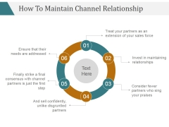 How To Maintain Channel Relationship Ppt PowerPoint Presentation Design Ideas