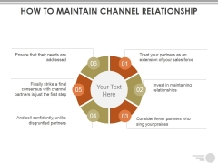 How To Maintain Channel Relationship Ppt PowerPoint Presentation Portfolio Slide