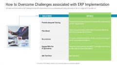 How To Overcome Challenges Associated With Erp Implementation Rules PDF