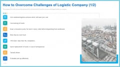 How To Overcome Challenges Of Logistic Company Services Ideas PDF