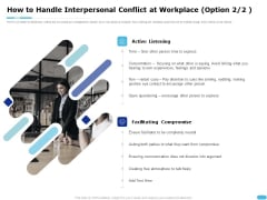 How To Resolve Worksite Disputes How To Handle Interpersonal Conflict At Workplace Diagrams PDF