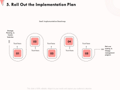 How To Strengthen Relationships With Clients And Partners 5 Roll Out The Implementation Plan Infographics PDF