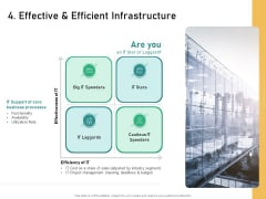 How Transform Segments Company Harmony And Achievement 4 Effective And Efficient Infrastructure Summary PDF