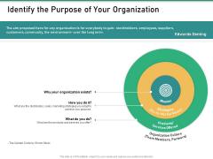 How Transform Segments Company Harmony And Achievement Identify The Purpose Of Your Organization Brochure PDF