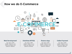 How We Do E Commerce Ppt PowerPoint Presentation Icon Show