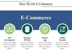 How We Do E Commerce Ppt PowerPoint Presentation Infographics Mockup