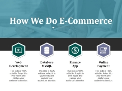 How We Do E Commerce Ppt PowerPoint Presentation Pictures Guidelines