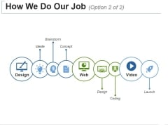 How We Do Our Job Template 2 Ppt PowerPoint Presentation Outline Designs