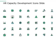 Hr Capacity Development Icons Slide Ppt Powerpoint Presentation Layouts Structure