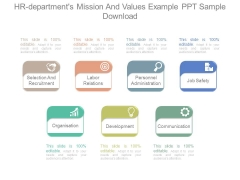 Hr Departments Mission And Values Example Ppt Sample Download