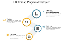 Hr Training Programs Employees Ppt PowerPoint Presentation Inspiration Diagrams Cpb