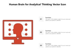 Human Brain For Analytical Thinking Vector Icon Ppt PowerPoint Presentation Pictures Templates PDF