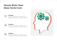 Human Brain Gear Ideas Vector Icon Ppt PowerPoint Presentation File Background Images PDF