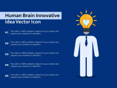 Human Brain Innovative Idea Vector Icon Ppt PowerPoint Presentation Ideas Example Introduction PDF