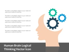 Human Brain Logical Thinking Vector Icon Ppt PowerPoint Presentation Professional Influencers PDF