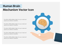 Human Brain Mechanism Vector Icon Ppt PowerPoint Presentation Infographic Template Clipart PDF