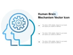 Human Brain Mechanism Vector Icon Ppt PowerPoint Presentation Infographics Skills