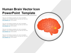 Human Brain Vector Icon PowerPoint Template Ppt PowerPoint Presentation Show Themes PDF