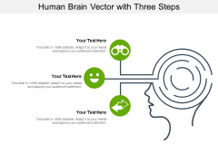 Human Brain Vector With Three Steps Ppt PowerPoint Presentation File Example PDF