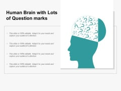 Human Brain With Lots Of Question Marks Ppt PowerPoint Presentation Professional Infographic Template