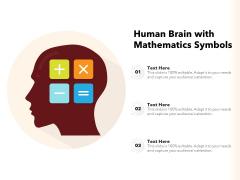 Human Brain With Mathematics Symbols Ppt PowerPoint Presentation Graphics PDF