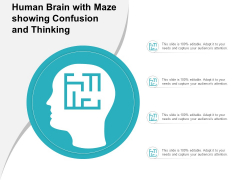 Human Brain With Maze Showing Confusion And Thinking Ppt PowerPoint Presentation Gallery Templates