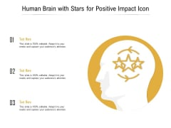 Human Brain With Stars For Positive Impact Icon Ppt Layouts Maker PDF
