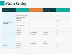 Human Capital Management Procedure Goals Setting Graphics PDF
