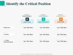 Human Capital Management Procedure Identify The Critical Position Ppt Model Graphics PDF