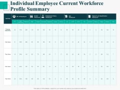 Human Capital Management Procedure Individual Employee Current Workforce Profile Summary Inspiration PDF