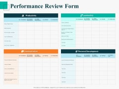 Human Capital Management Procedure Performance Review Form Themes PDF