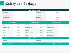 Human Capital Management Procedure Salary And Package Structure PDF