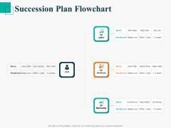 Human Capital Management Procedure Succession Plan Flowchart Ppt Graphics PDF