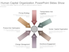 Human Capital Organization Powerpoint Slides Show