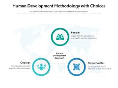 Human Development Methodology With Choices Ppt PowerPoint Presentation File Portfolio PDF