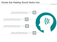 Human Ear Hearing Sound Vector Icon Ppt PowerPoint Presentation Gallery Example PDF
