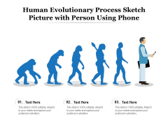 Human Evolutionary Process Sketch Picture With Person Using Phone Ppt PowerPoint Presentation Ideas Templates PDF