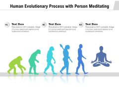 Human Evolutionary Process With Person Meditating Ppt PowerPoint Presentation Ideas Graphics Download PDF