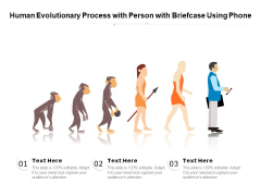 Human Evolutionary Process With Person With Briefcase Using Phone Ppt PowerPoint Presentation Infographics Slides PDF