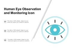 Human Eye Observation And Monitoring Icon Ppt PowerPoint Presentation Layouts Graphics