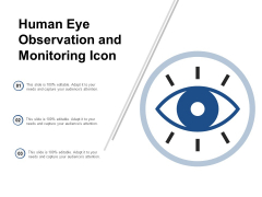 Human Eye Observation And Monitoring Icon Ppt Powerpoint Presentation Slides Background Designs