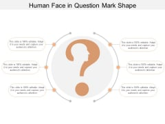 Human Face In Question Mark Shape Ppt PowerPoint Presentation Icon Clipart