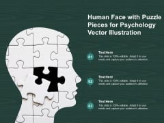 Human Face With Puzzle Pieces For Psychology Vector Illustration Ppt PowerPoint Presentation Gallery Background Images PDF