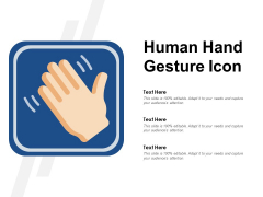 Human Hand Gesture Icon Ppt PowerPoint Presentation Infographics Show