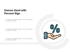 Human Hand With Percent Sign Ppt PowerPoint Presentation Icon Clipart Images