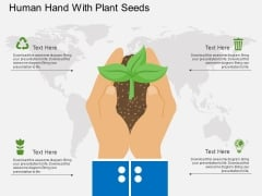 Human Hand With Plant Seeds Powerpoint Template