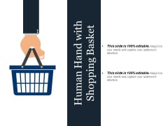 Human Hand With Shopping Basket Ppt PowerPoint Presentation Gallery Styles