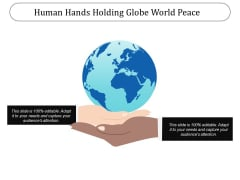 Human Hands Holding Globe World Peace Ppt PowerPoint Presentation File Samples