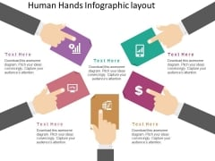 Human Hands Infographic Layout Powerpoint Template