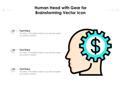 Human Head With Gear For Brainstorming Vector Icon Ppt PowerPoint Presentation Gallery Vector PDF